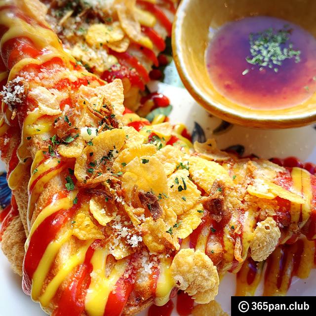 【新大久保】揚げなく焼いたチーズパンドッグ「カエサルカフェ」感想13