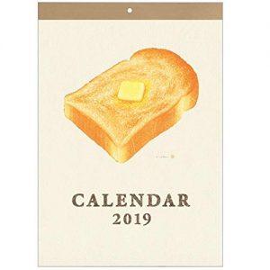 学研ステイフル 2019年 カレンダー 壁掛け 彦坂木版工房 パン