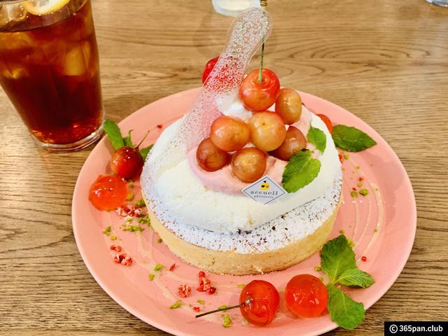 【恵比寿】カフェ アクイーユ「さくらんぼレアチーズパンケーキ」-06