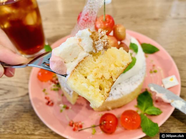 【恵比寿】カフェ アクイーユ「さくらんぼレアチーズパンケーキ」-08